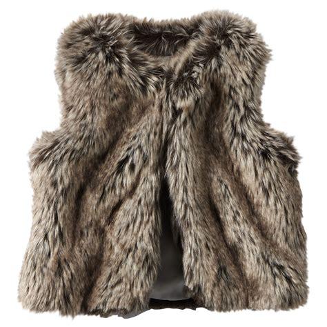 with fur vest faux fur vest carters