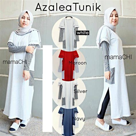 Baju Tunik Daily Abu Tunik Murah Baju Muslim Atas Limited 1 grosir baju azalea tunik grosir baju muslim pakaian wanita dan busana murah