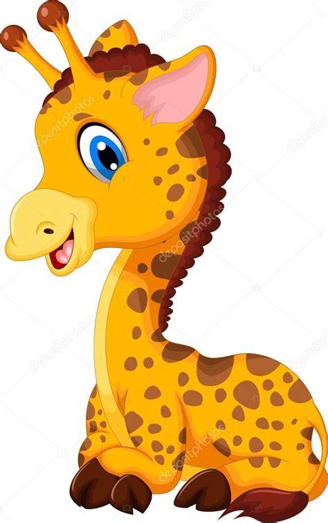 imagenes de jirafas bebes animados dibujos animados de jirafa lindo beb 233 sentado foto de