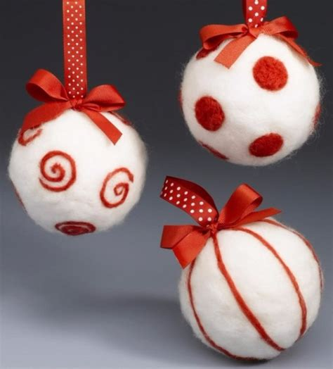 cute homemade felt christmas ornament crafts  trim