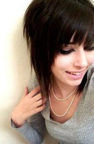 comb it forward emo look 30 deeply emotional and creative emo hairstyles for girls
