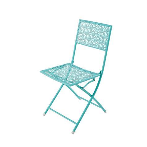 Chaise Et Bleue by Chaise De Jardin Pliante En M 233 Tal Bleu Turquoise Suzon