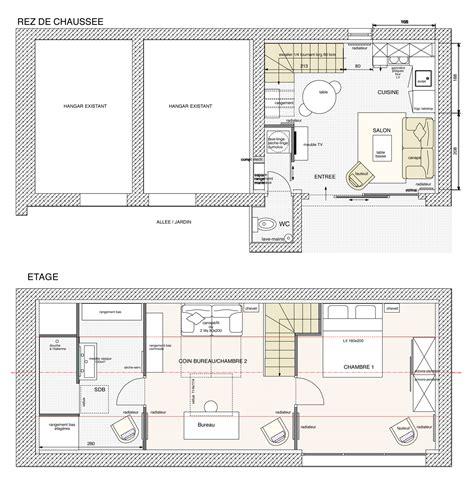 Aménagement D Une Maison by Cuisine Plan Am 195 169 Nagement Interieur Maisons Arlogis