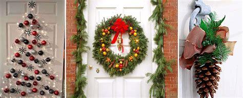 decorar casa para navidad decorar puerta de entrada navidad diseno casa