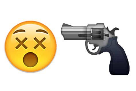 emoji film pistole brasilien star ledger editorial emojis can get you arrested real