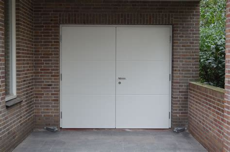 Houten Openslaande Garagedeuren by Openslaande Houten Garagedeuren Model Hilversum Het