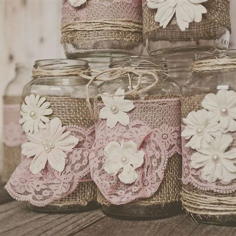 burlap and lace centerpieces pink lace and burlap wedding centerpieces lace and burlap