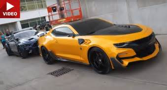 the new bumblebee car transformers 5 s bumblebee camaro barricade mustang and