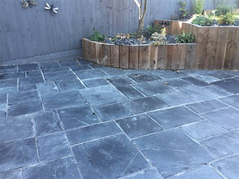 patio slate restoring a riven slate patio suffering from grout in
