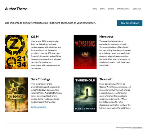 author wordpress themes 10 wordpress themes for authors