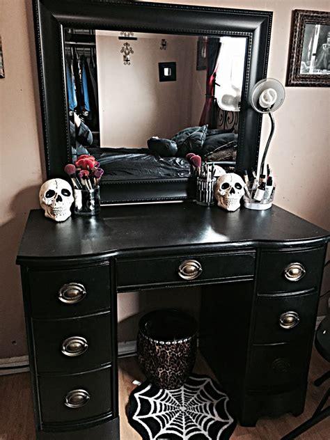 black vanities for bedrooms beautyschooldropouttt my vanity halloween is everyday