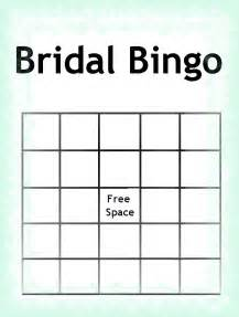 bridal shower bingo template blank bridal shower bingo template blank