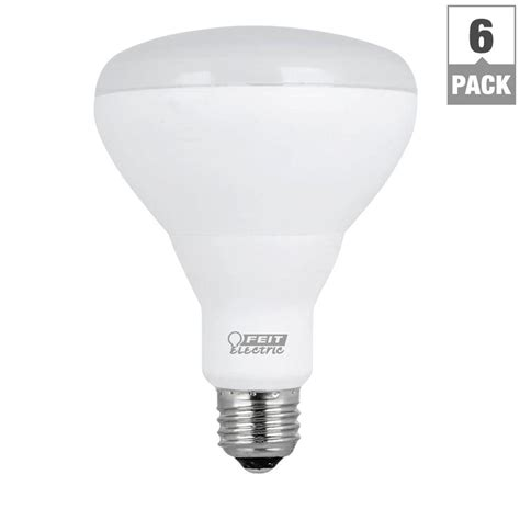feit electric led light bulbs feit electric 65w equivalent soft white br30 dimmable led