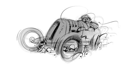 Sketches Vs Procreate by Vintage Car Sketch Pro And Procreate