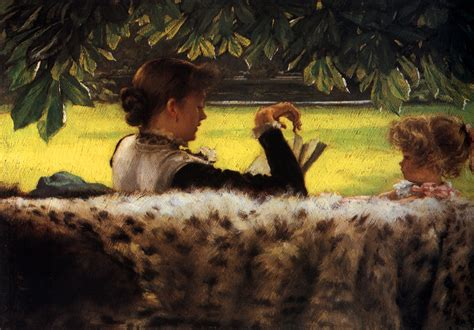 painting story reading a story tissot wikiart org