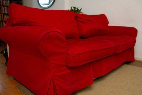 red couch slipcover red sofa slipcovers living room pinterest