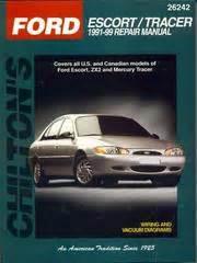 car repair manuals online free 1994 mercury tracer regenerative braking chilton s ford escort tracer 1991 99 repair manual 2000 edition open library