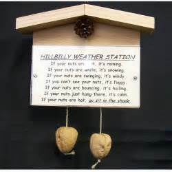 hillbilly weather station novelty gift custom title