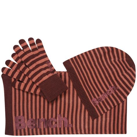 bench s klaudia hat scarf and glove gift set port