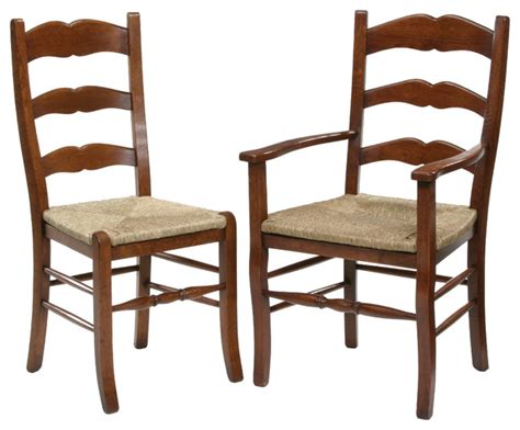 country ladder back dining chair traditional