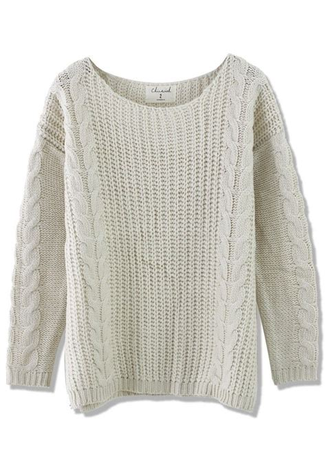 white cable knit sweater classic cable knit sweater in white