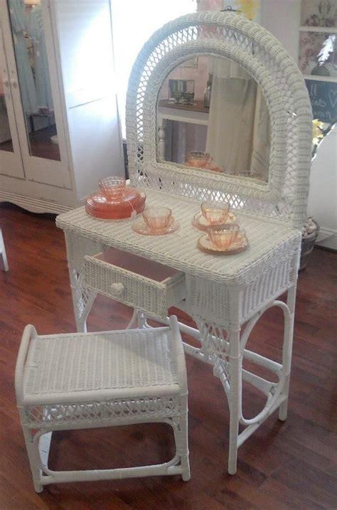 wicker bathroom vanity stool white wicker vanity and stool wicker white