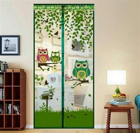 Tirai Magnet Pinguin Motif Burung Magnetic Anti Nyamuk Pintu Door tirai magnet pintu anti nyamuk magnetic curtain motif owl