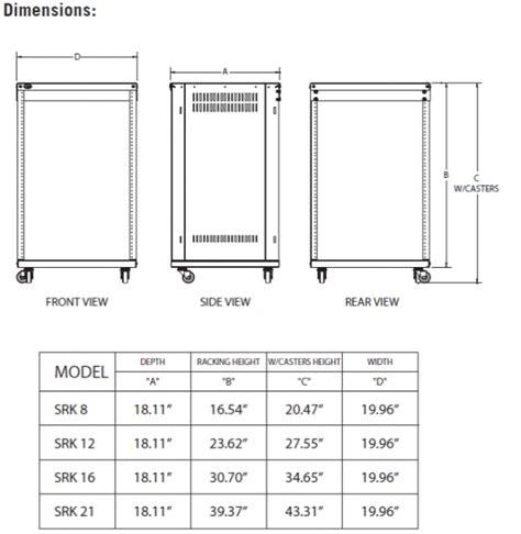 Rack Sizes Standard by Samson Srk12 Rack