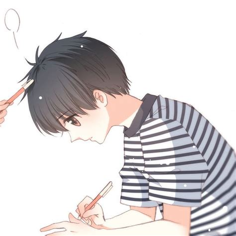 anime couple terpisah a頭像 畫板 花瓣网 陪你做生活的设计师 插画 头像