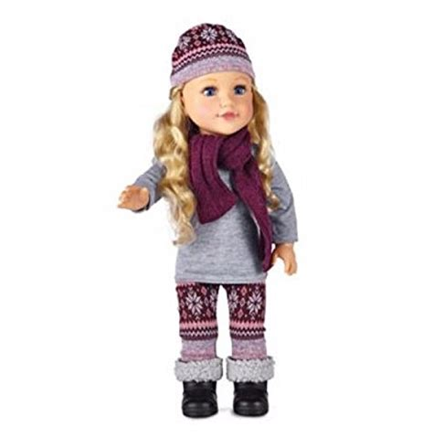 black newberry doll newberry newberry 18 inch doll with snow sweater