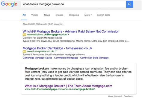 Mortgage Broker Responsibilities by The Functional Content Masterplan Own The Knowledge Graph Goldrush With This On Page Plan Moz