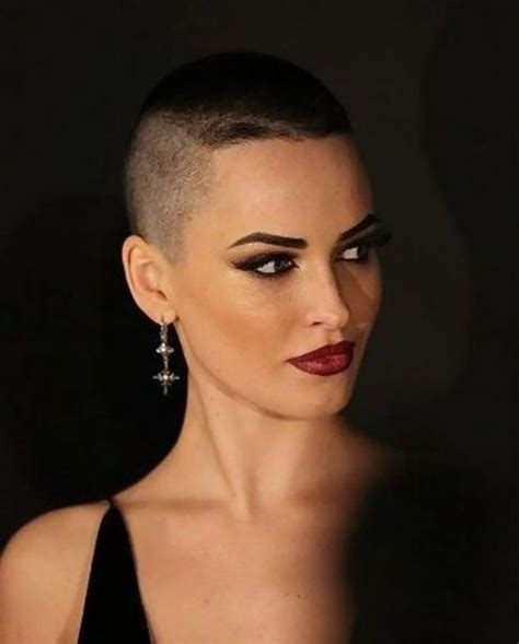 female crew cut hairstyles buzz cut 2 ombre hair pinterest to work eyebrow