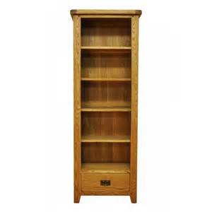 Oak Narrow Bookcase Bookcase Slim Drawer Shelves Buy Narrow Oak Bookcases With Free Uk