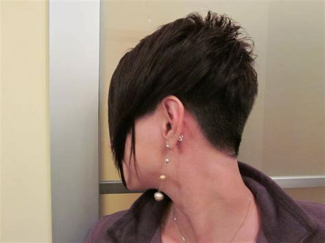 hairstyles cut into neck assimetric short haircut with buzzed nape short haircuts