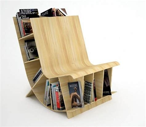 bookseat reading chair with space saving bookshelf