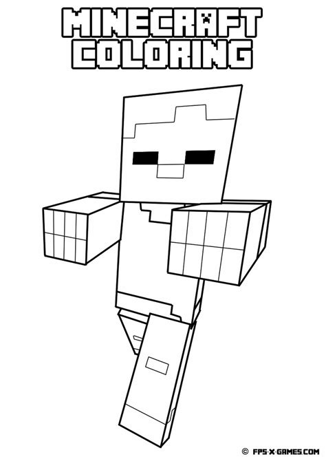 free minecraft coloring pages free coloring pages of minecraft for