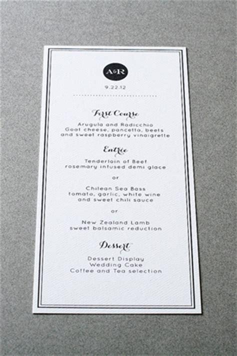 black and white menu wedding stationery inspiration black white stripes
