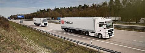 transporter mieten nürnberg en db schenker samen in pilot truckplatooning