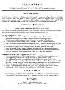 Sles Of Administrative Resumes by L R Administrative Assistant Resume Letter Resume