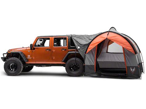 jeep tent inside rightline gear wrangler gear tent with vehicle attachment