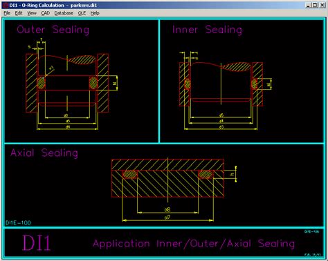 Drawing O Ring Solidworks by Di1 Software For O Ring Seals According To Iso 3601