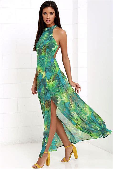 Tropical Dress tropic of discussion green tropical print maxi dress