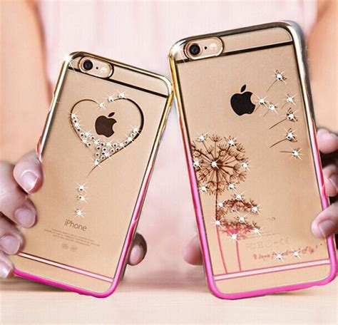 Casing Iphone 6 6s Cover Loving dandelion loving luxury bling rhinestone for iphone 6 6s plus 5 5s