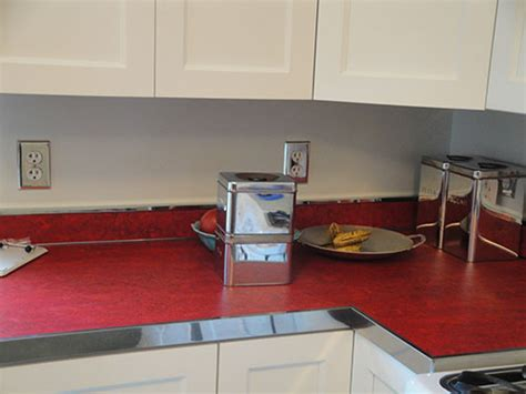 Linoleum Countertops by Wallpaper The Backsplash Deb Wants Our Help With