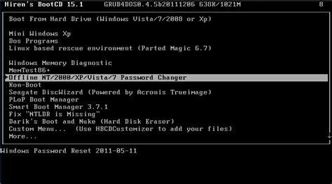 vista offline password reset reset a lost or forgotten windows password techcoder