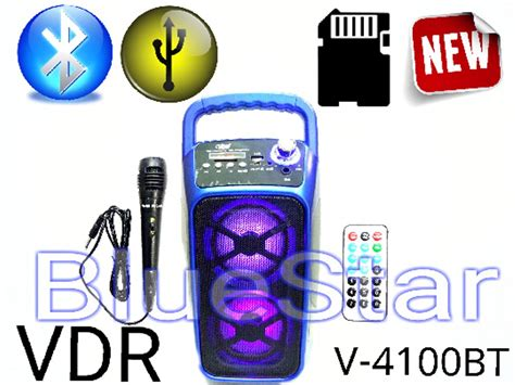 Speaker Vdr V 3000 Ur jual speaker portable vdr v 4100 bt bluetooth usb sd card di lapak bluestar elektronik bluestar