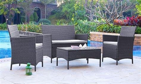 Garden Furniture Deals Rattan Garden Furniture Set Groupon Goods