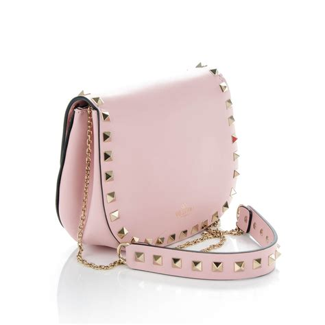 light pink crossbody purse valentino vitello mini rockstud flap crossbody bag light