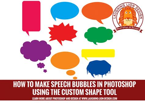 how to make speech bubbles in photoshop cc using the