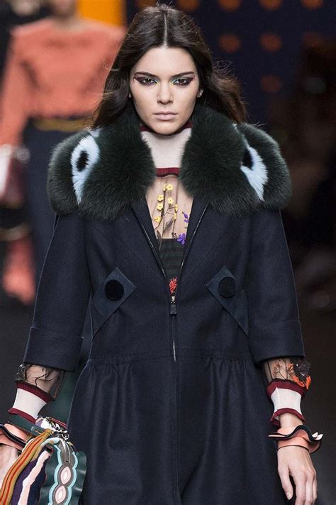 Who Wore It Better Fendi Fur Coat by Collares Kendall Jenner